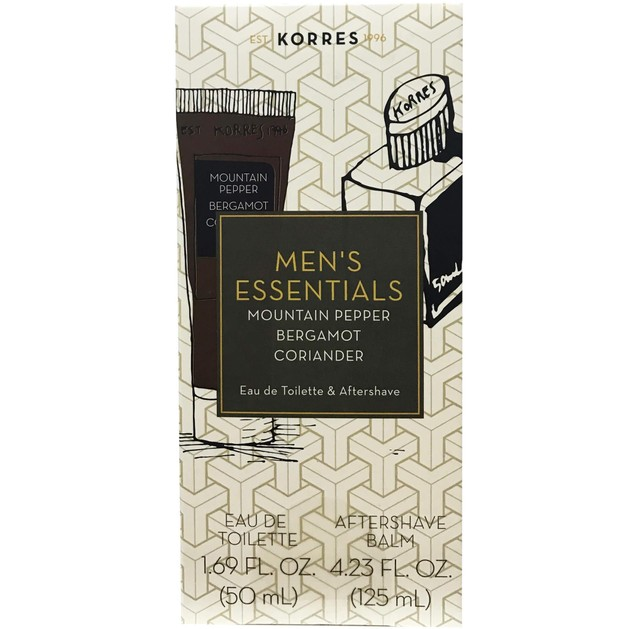 Πακέτο Προσφοράς Men\'s Essentials Mountain Pepper 50ml & Δώρο Aftershave 125ml - Korres