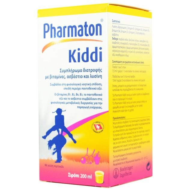 Pharmaton Kiddi Syrup Πολυβιταμίνη για Παιδιά σε Σιρόπι 200ml