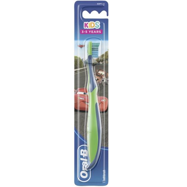 Oral-B Kids Cars Χειροκίνητη Παιδική Οδοντόβουρτσα Soft, 3-5 Ετών 1 Τεμάχιο