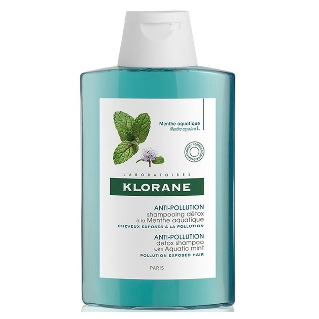 Klorane Anti-Pollution Detox Shampoo Σαμπουάν με Υδάτινη Μέντα για Μαλλιά Εκτεθειμένα στην Ρύπανση 200ml