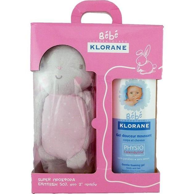 Klorane Πακέτο Προσφοράς 1+1 Bebe Girl Gel Douceur Moussant 500ml & Δώρο Λούτρινο  Κουνελάκι