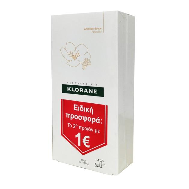Klorane Cold Wax Small Strips With Sweet Almond Promo Διπλές Αποτριχωτικές Ταινίες Το 2ο Προϊόν με 1€ 2x6 Ταινίες