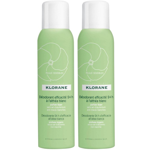 Klorane Πακέτο Προσφοράς Deodorant Efficacite 24h a l\'Althea Blanc 2 x125ml