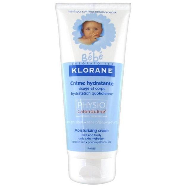 Klorane Bebe Creme Hydratante Vitamine Physio Calenduline Visage et Corps 200ml