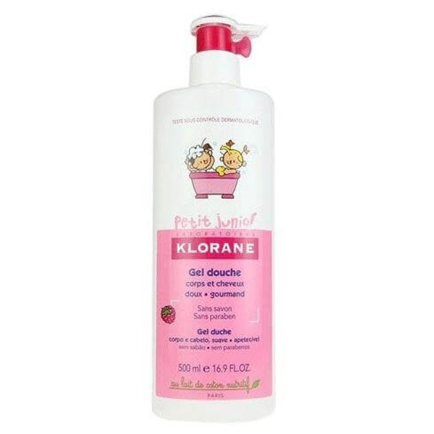 Petit Junior Gel Douche Corps & Cheveux Parfum Framboise 200ml - Klorane