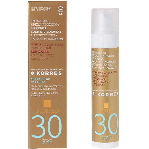 Korres Tinted Sunscreen Κόκκινο Σταφύλι με Spf30 50ml