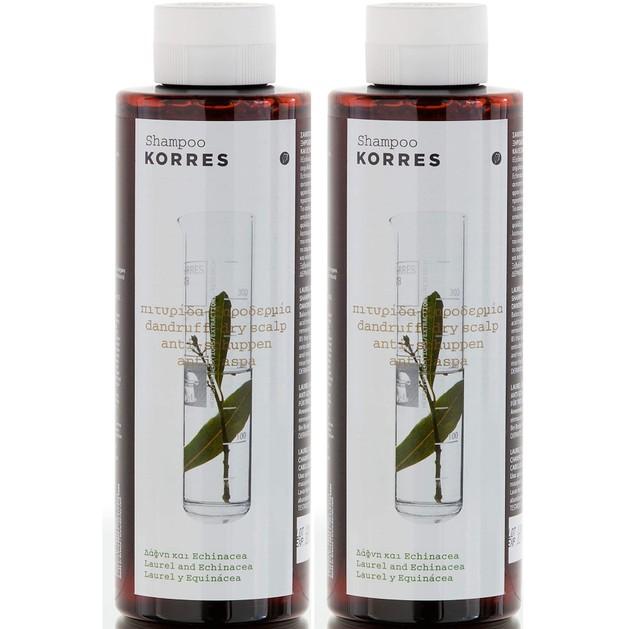 Korres Laurel & Echinacea Shampoo 1+1 Δώρο 2χ250ml