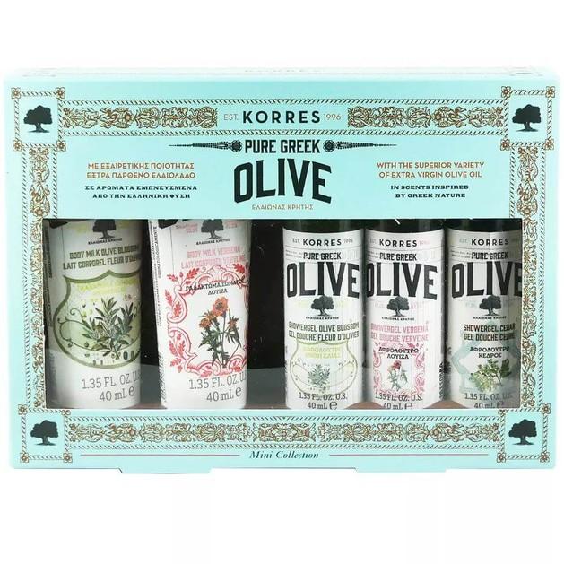 Korres Set Olive Blosom Body Milk, Verbena Body Milk, Olive Blosom ShowerGel,  Verbena ShowerGel, Cedar ShowerGel, 5x40ml