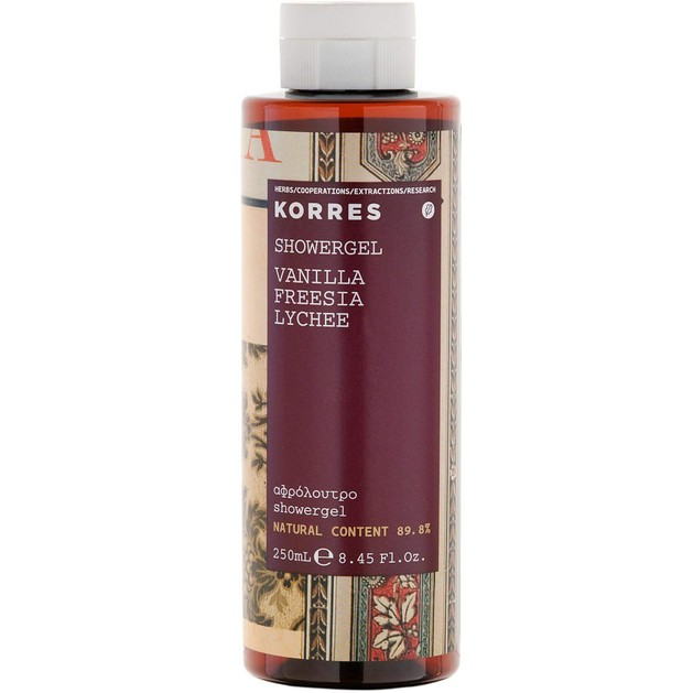 Korres Showergel Vanilla Freesia Lychee 250ml