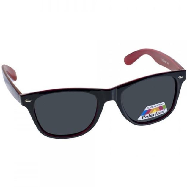 Eyelead Γυαλιά Ηλίου Unisex Μαύρο - Μπορντώ L628