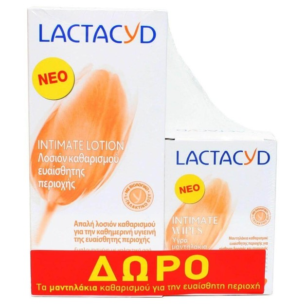 Lactacyd Intimate Lotion 300ml + Δώρο Intimate Wipes 15τμχ