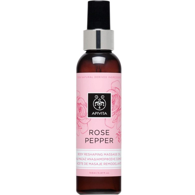 Rose Pepper Body Reshaping Masage Oil 150ml - Apivita
