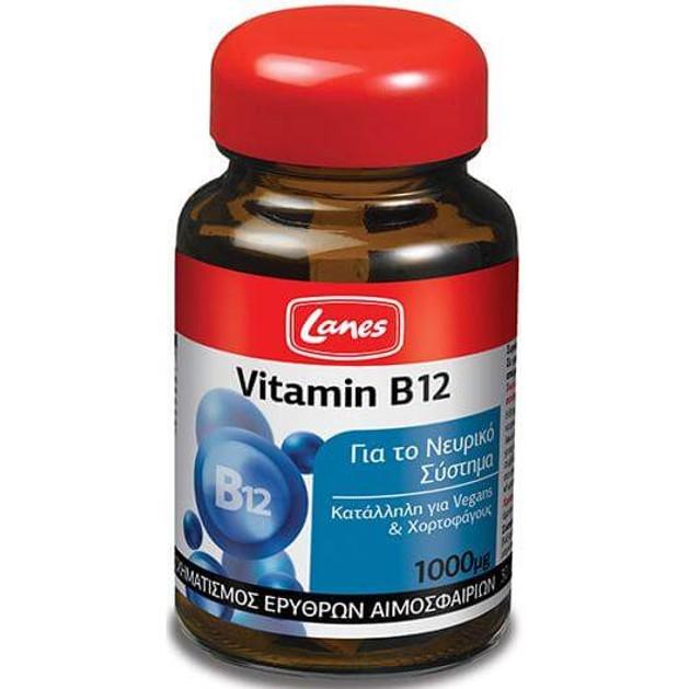 Lanes Vitamin B12 1000μg 30Tabs