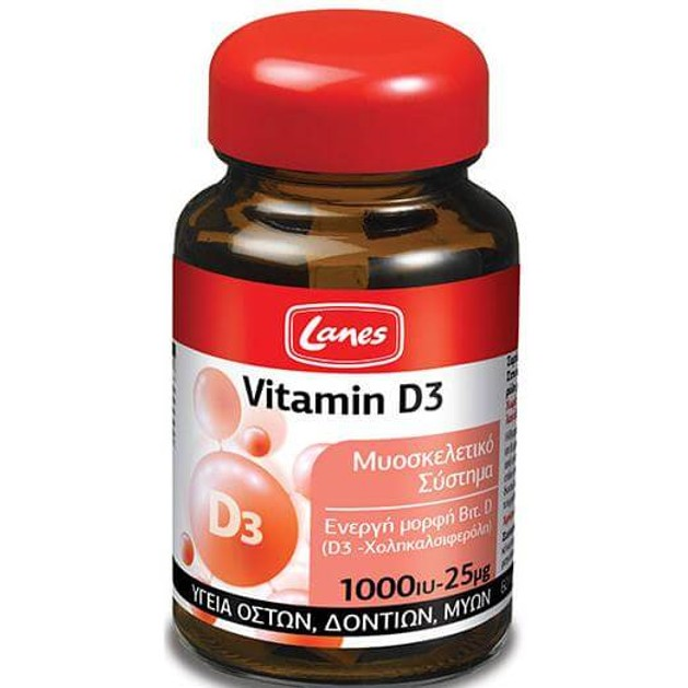 Lanes Vitamin D3 60Tabs
