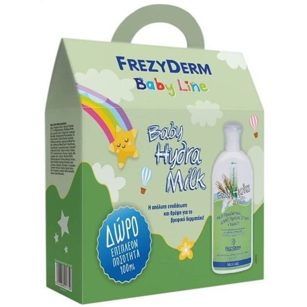 Frezyderm Promo Pack Baby Hydra Milk Ενυδατικό Γαλάκτωμα Καθημερινής Πλούσιας Ενυδάτωσης 200ml & Δώρο Επιπλέον Ποσότητα 100ml