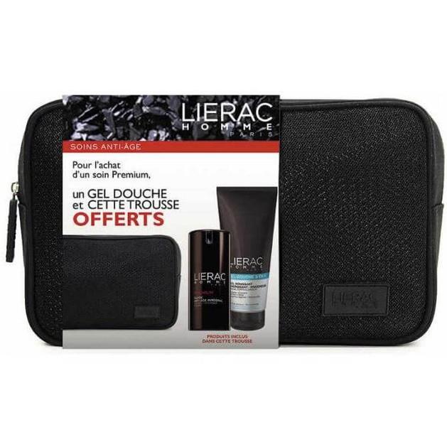 Lierac Πακέτο Προσφοράς Homme Premium 40ml & Gel Douche 200ml & Νεσεσέρ