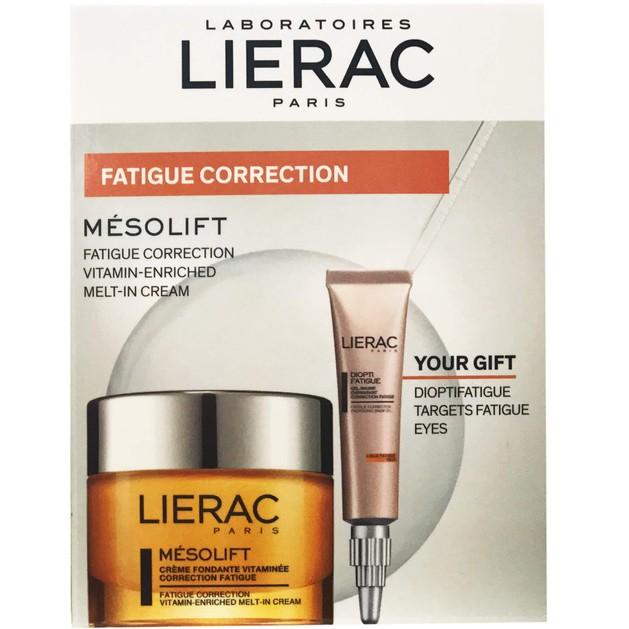 Lierac Mesolift Αντιγηραντική Κρέμα Λάμψης Πλούσια σε Βιταμίνες 50ml & Δώρο Dioptifatigue Gel Κατά της Κούρασης των Ματιών 10ml