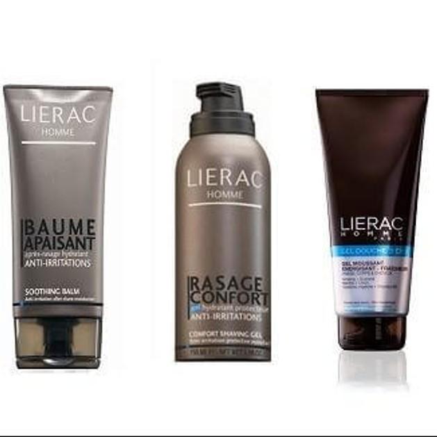 Lierac  Ενυδατικό aftershave 75ml + Δροσερό ντους για πρόσωπο, σώμα και μαλλιά + Ενυδατικό προστατευτικό ζελ Ξυρίσματος 150ml
