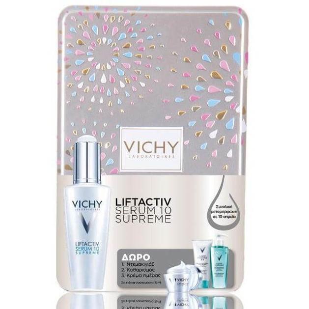 Vichy Liftactiv Serum10 Supreme 30ml & Δώρο Purete Thermale 3in1 15ml & Fresh Gel 15ml & Liftactiv Supreme Καν/μικτές 15ml