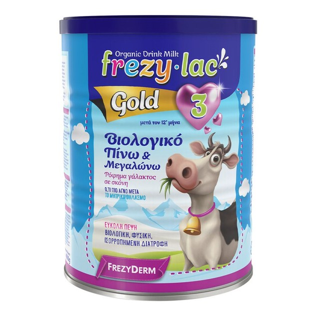 Frezyderm Frezylac Gold 3 Αγελαδινό Βιολογικό Γάλα 3ης Ηλικίας από τον 12ο Μήνα 900gr