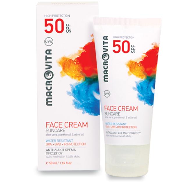 Macrovita Suncare Face Cream Spf50 Για Όλους τους Τύπους Δέρματος 50ml