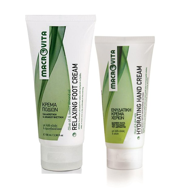 Macrovita Πακέτο Προσφοράς Relaxing Foot Cream Χαλαρωτική & Ανακουφιστική Κρέμα Ποδιών 100ml & Δώρο Hydrating Hand Cream 60ml
