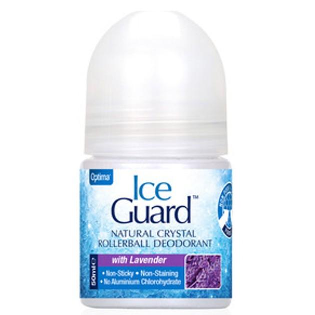 Optima Ice Guard Rollerball Υποαλλεργικό Αποσμητικό απο Φυσικά Μεταλλικά Άλατα με Άρωμα Λεβάντα 50ml