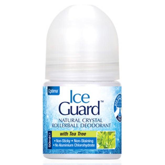 Optima Ice Guard Rollerball Υποαλλεργικό Αποσμητικό απο Φυσικά Μεταλλικά Άλατα με Τεϊόδεντρο 50ml