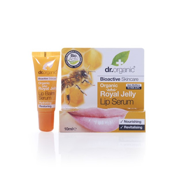 Dr Organic Organic Royal Jelly Lip Serum Σέρουμ Εντατικής Ενυδάτωσης Για Τα Χείλη 10ml