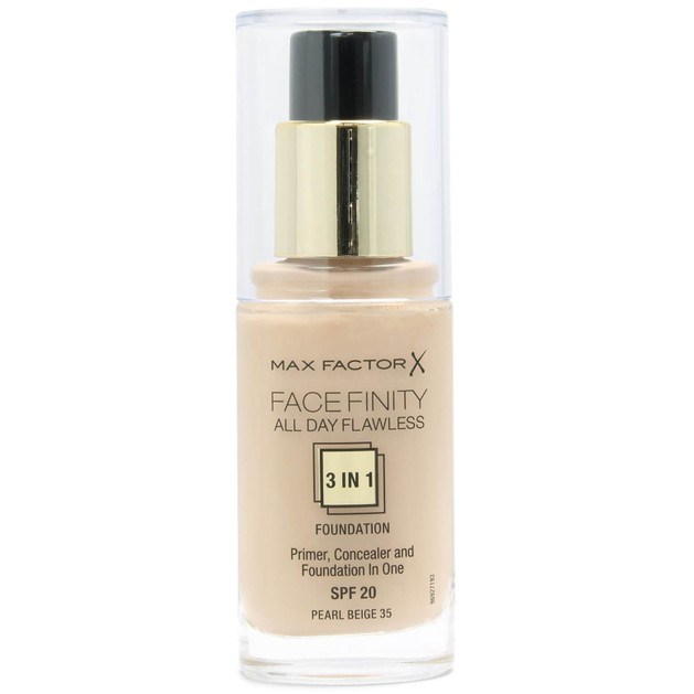 Max Factor Facefinity 35 Pearl Beige 3 in 1 Foundation 30ml  (make up)