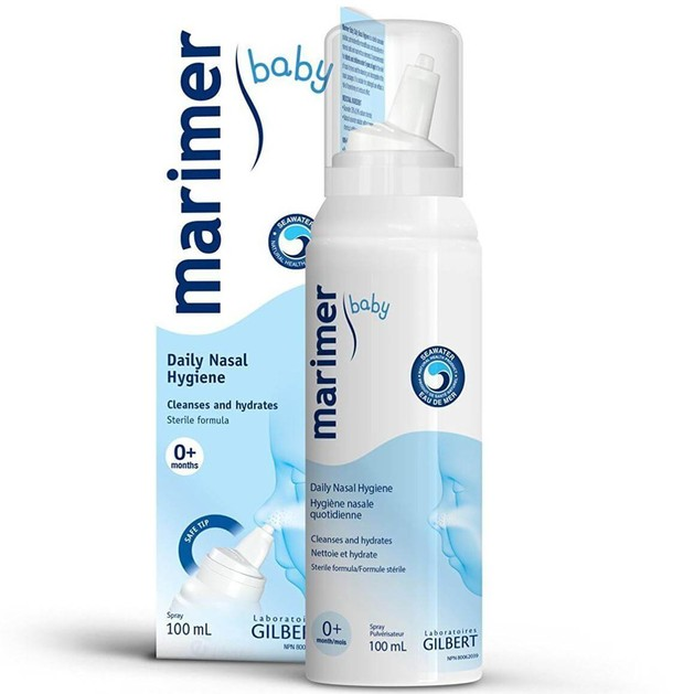 Marimer Isotonic Baby Hygiene Nasal Daily Spray 100% Αποστειρωμένο Ισότονο Διάλυμα Θαλασσινού Νερού Κατάλληλο για Βρέφη 100ml