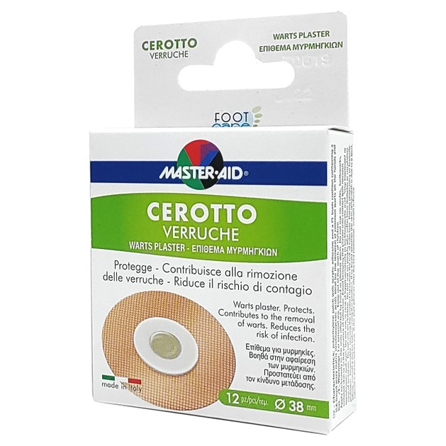 Masteraid Cerotto Verruche Crioline Επιθέματα Για Καταπολέμηση Των Μυρμηκιών 12 τεμάχια