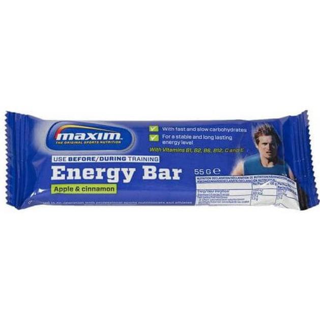 Maxim Energy Bar Μπάρες Δημητριακών με Υψηλή Περιεκτικότητα σε Υδατάνθρακες 55g