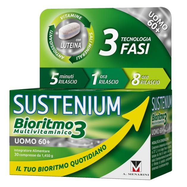 Menarini Sustenium Biorhythm3 Men 60+ Συμπλήρωμα Διατροφής,Πολυβιταμίνη Ειδικά Σχεδιασμένη για Άνδρες Άνω των 60 Ετών 30caps