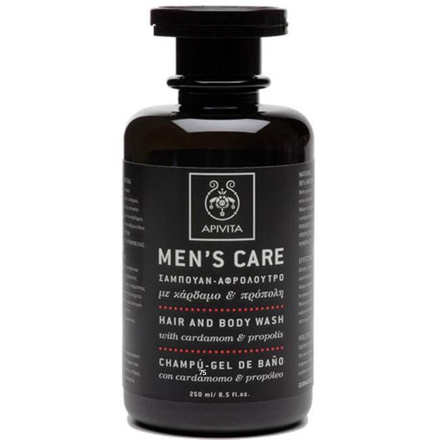 Apivita Mens Care Hair & Body Wash With Cardamom & Propolis 250ml