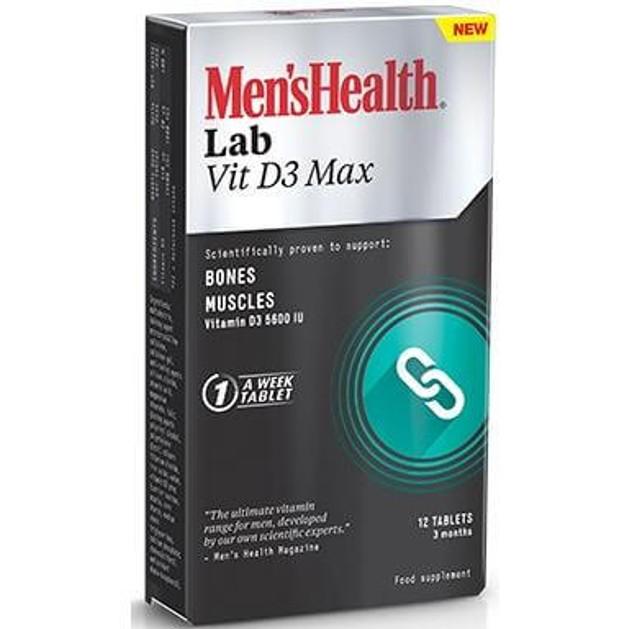 Men\'s Health Lab Vit D3 Max Για Τη Διατήρηση Της Υγείας Των Οστών Και Των Μυών 12 Caps