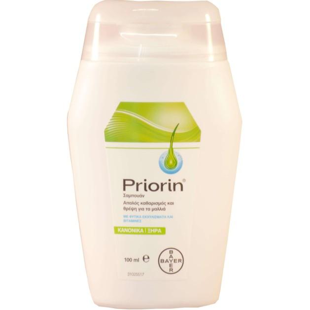 Δώρο Priorin Σαμπουάν Για Την Τριχόπτωση για Κανονικά Ξηρά Μαλλιά 100ml