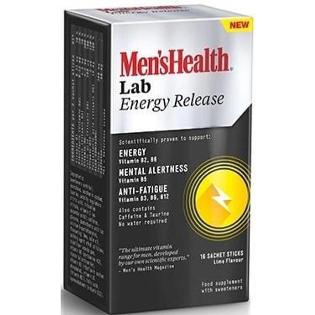 Men\'s Health Lab Energy Release Προσφέρει Εναν Μοναδικό Συνδυασμό Καφεϊνης Ταυρίνης Και Βιταμινών Β, 16 Caps