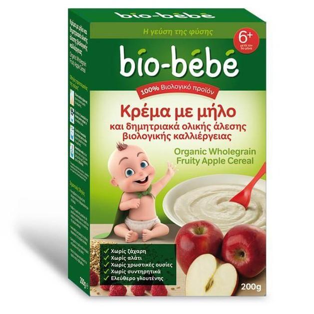 Bio Bebe Κρέμα με μήλο & δημητριακά ολικής άλεσης βιολογικής καλλιέργειας 200gr