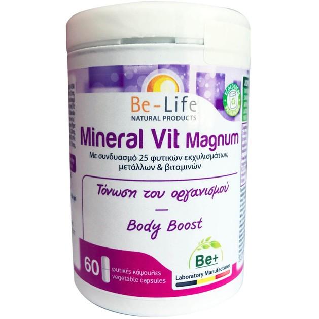 Be-Life Mineral Vit Magnum Συμπλήρωμα Διατροφής για Τόνωση του Οργανισμού 60caps