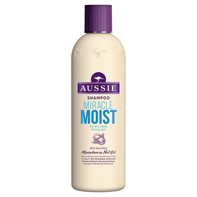 Aussie Miracle Moist Shampoo Σαμπουάν που Προσφέρει μια Ανάσα Δροσιάς Στα Ξηρά Ταλαιπωρημένα Διψασμένα Μαλλιά 300ml