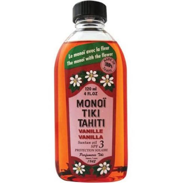 Monoi Tiki Tahiti Vanilla Bronzant Suntan Oil Spf3 Αντηλιακό Λάδι Μαυρίσματος με Άρωμα Βανίλιας 120ml