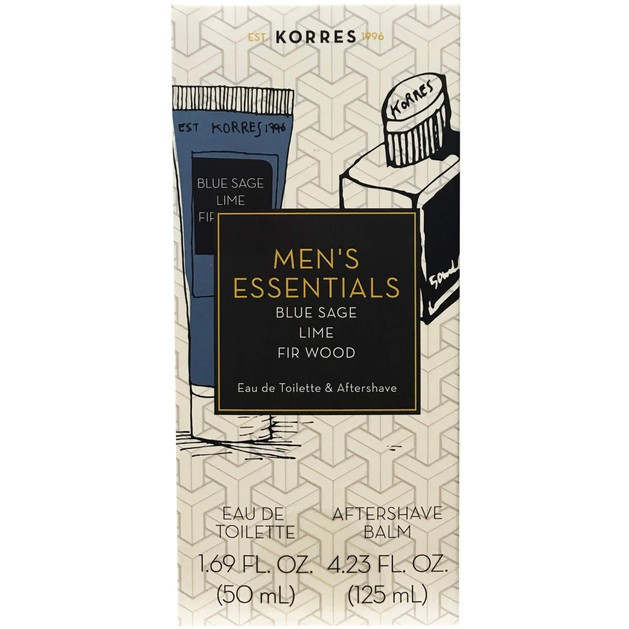 Korres Πακέτο Προσφοράς Men\'s Essentials Blue Sage Eau de Toilette 50ml & Δώρο Aftershave Balm 125ml