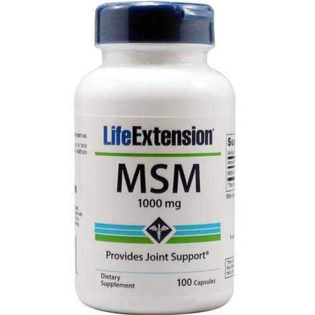 Life Extension MSM 1000mg Συμπλήρωμα Διατροφής, Παρέχει Υποστήριξη στις Αρθρώσεις & Καταπολεμά τις Φλεγμονές 100caps