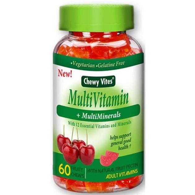 Chewy Vites Multi Vitamin +Multi Minerals Βιταμίνες-Ζελεδάκια Ενηλίκων Γεύση & Ενέργεια στο Maximum 60Fruity Chews 6213M