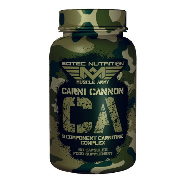 Scitec Nutrition Carni Cannon Muscle Army Σύμπλεγμα Καρνιτίνης 9 Συστατικών 60caps