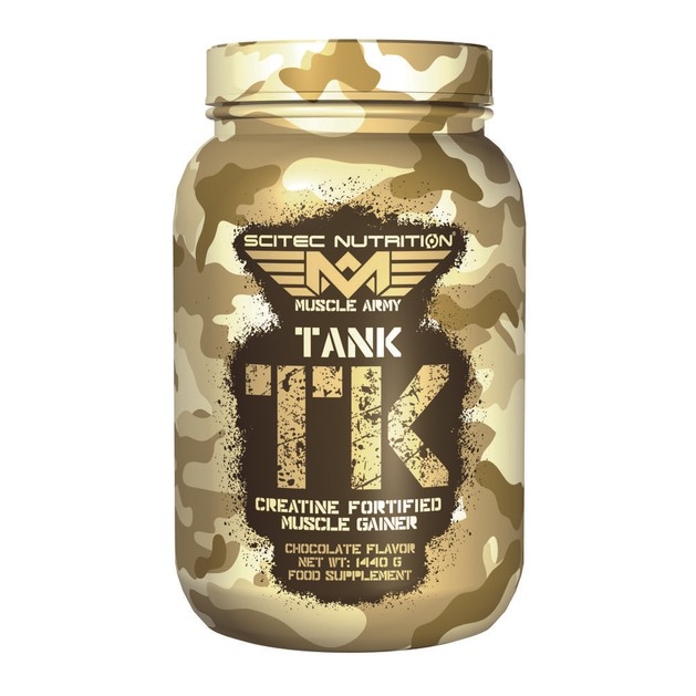 Scitec Nutrition Muscle Army Tank Μυικό gainer εμπλουτισμένο με κρεατίνη 1440gr