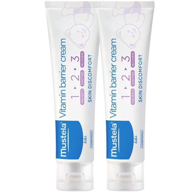Mustela Πακέτο Προσφοράς 123 Vitamin Barrier Cream Κρέμα Αλλαγής Πάνας 2x100ml 1+1 Δώρο