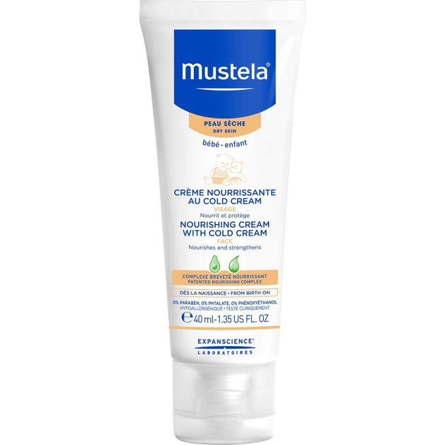 Mustela Nourishing Cream with Cold Cream, Θρεπτική Κρέμα για το Ξηρό & Ευαίσθητο Βρεφικό Πρόσωπο 40ml