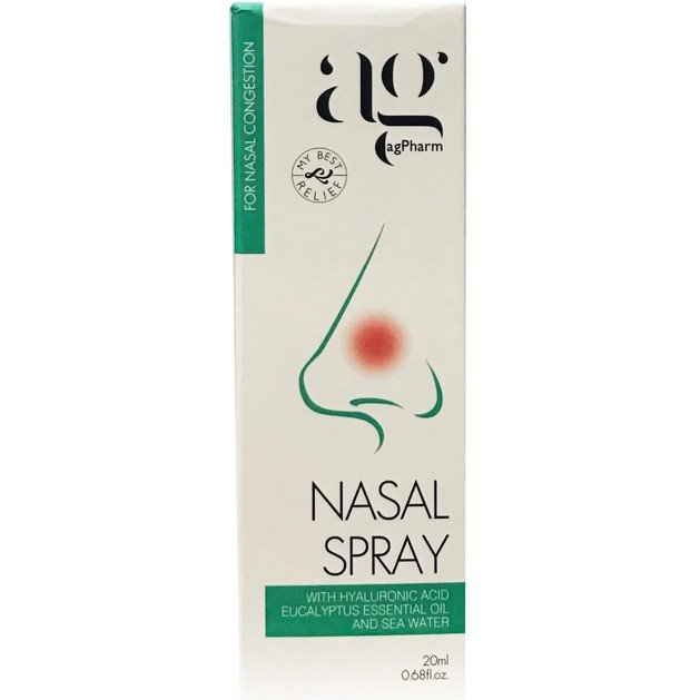 Agpharm Nasal Spray With Hyaluronic Acid, Eucalyptus Essential Oil & Sea Water Ρινικό Spray Ενηλίκων 20ml